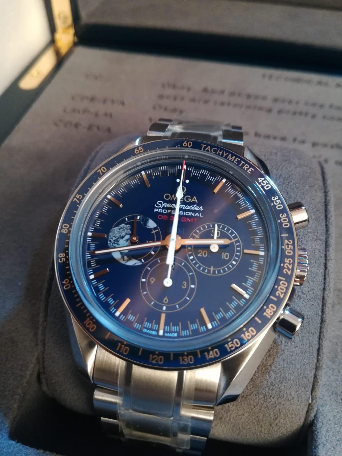 Omega Speedmaster Professional Moonwatch Stainless Steel   Blue   Bracelet    Apollo XVII 45th Anniversary. 1 799 000 Ft. Eladó 2d8fd02bd3